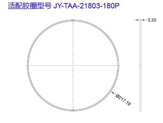 180 In 1 Circular LED Multi Lens , COB LED Lens With PCB Board 90 Degree