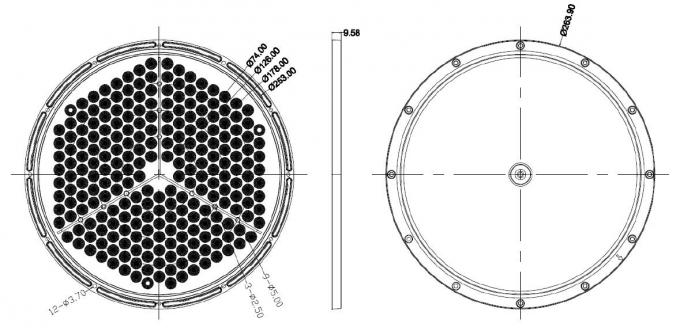 CREE 3030 LED Lens Array Round Shaped 234 LEDs In 1 With PCB / Gasket