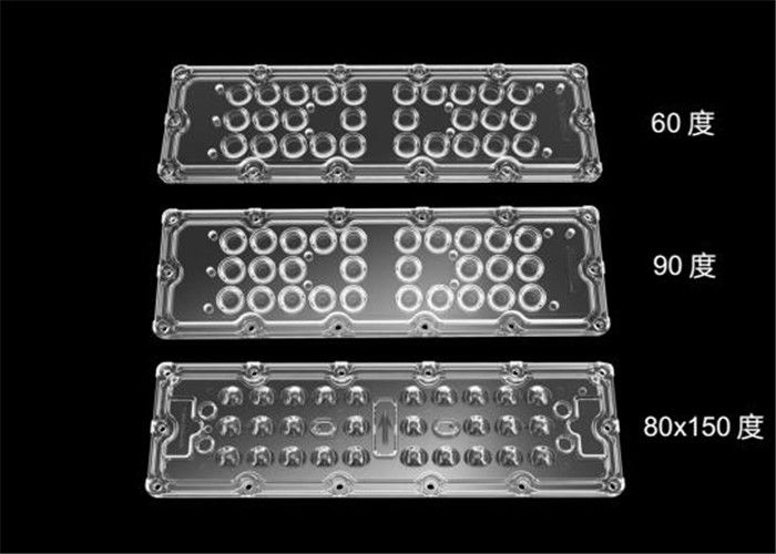 PMMA / PC Material LED Light Lens High Luminous Flux With PCB Board / Cluster Holders